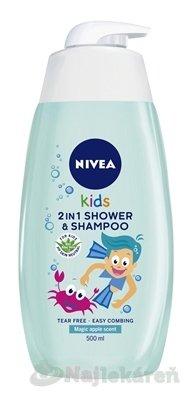 NIVEA Kids 2in1 Detský sprchový gél Boy - Nivea Kids Magic Apple šampón a sprchový gél pre deti 500 ml
