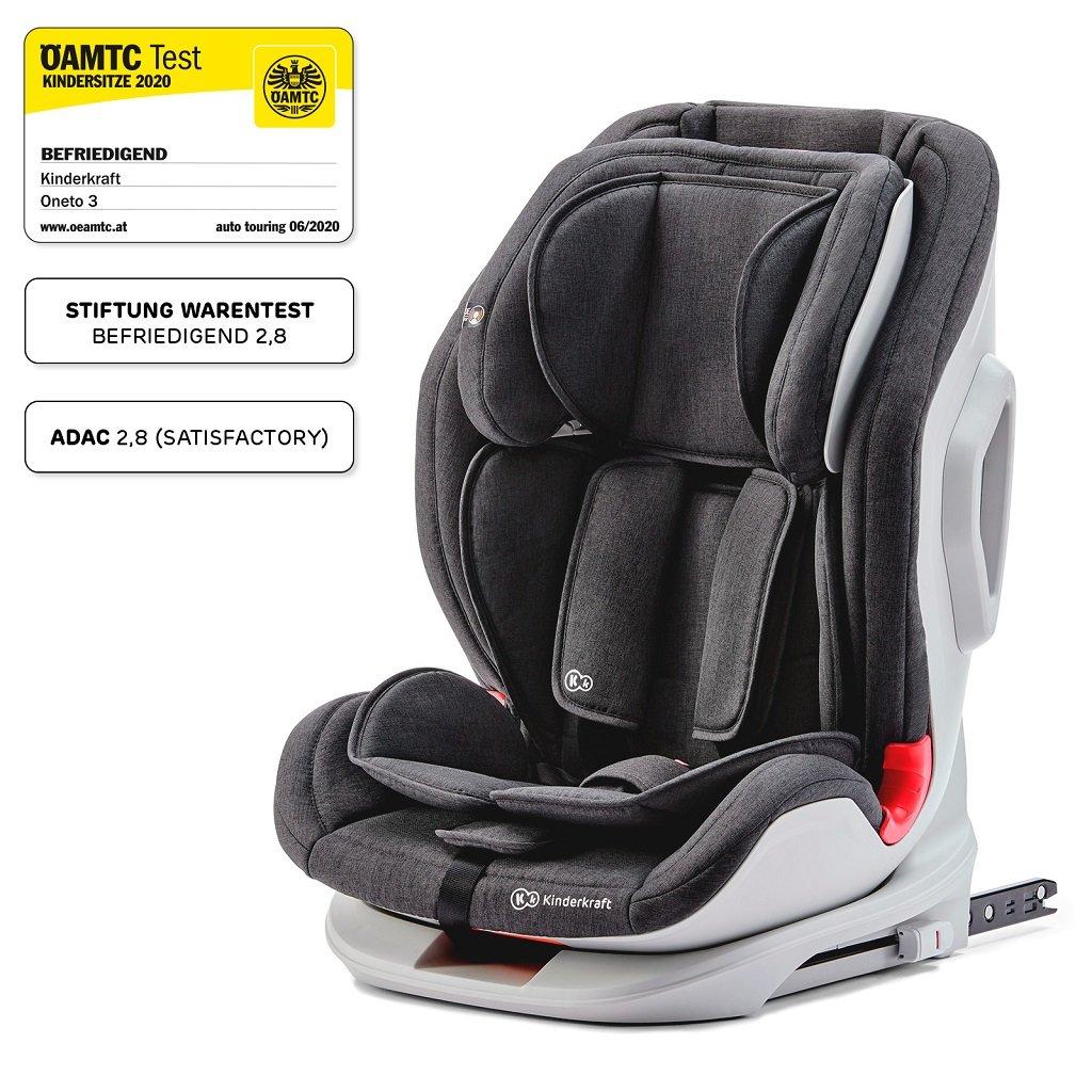 KINDERKRAFT Autosedačka Oneto3 Isofix Black 9-36 kg - Kinderkraft ONETO3 ISOFIX 2019 Black