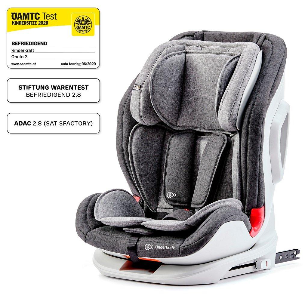 KINDERKRAFT Autosedačka Oneto3 Isofix Black/Gray 9-36 kg - Kinderkraft ONETO3 ISOFIX 2019 Grey