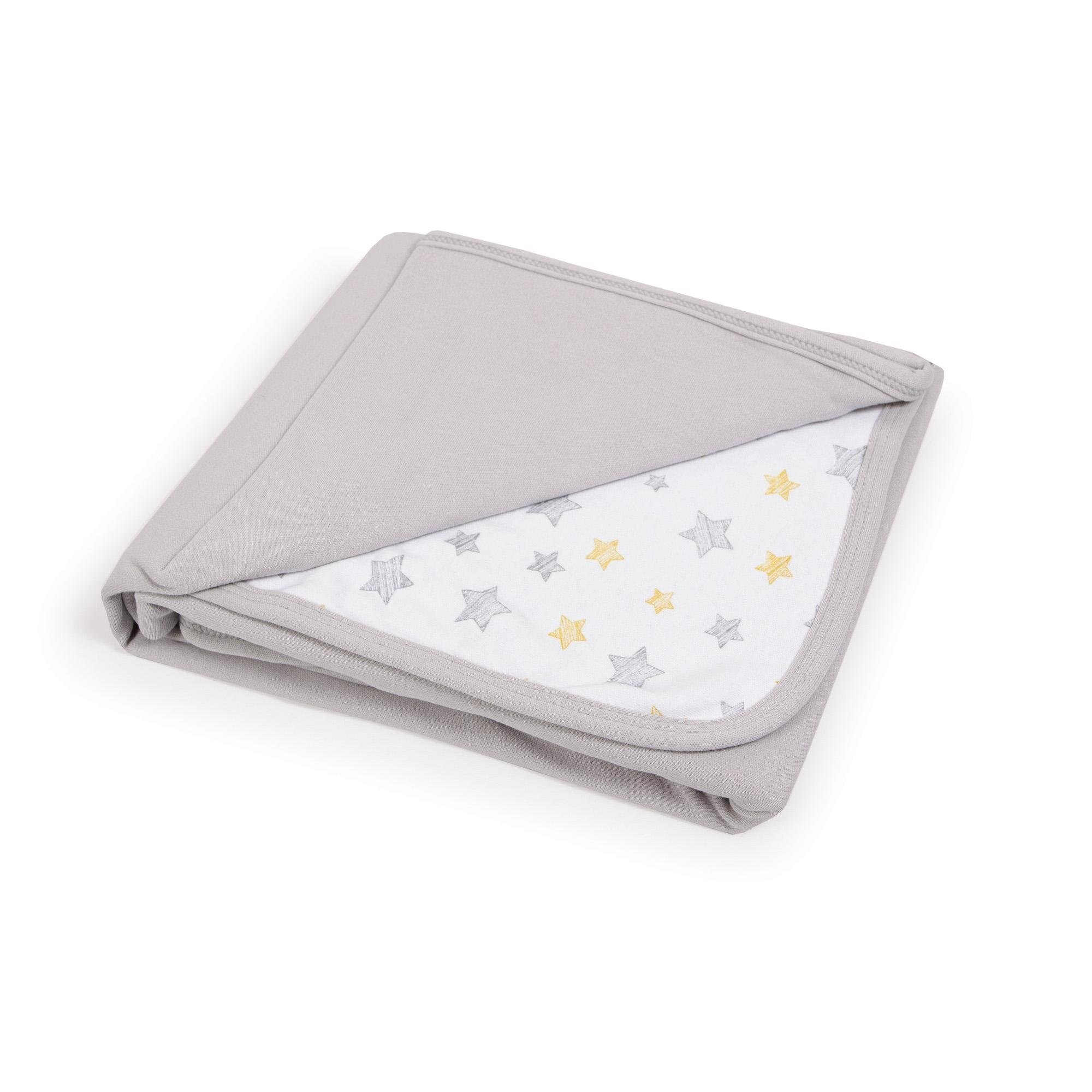 CEBA Deka detská 90x100 Light grey+Yellow Stars