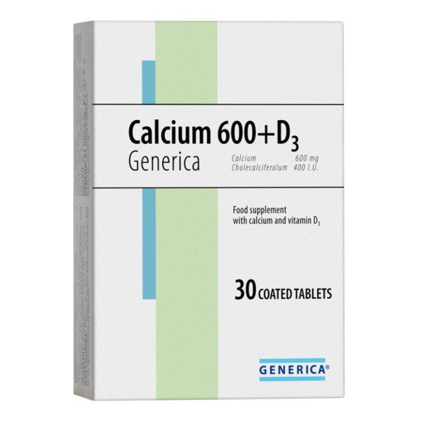 Generica Calcium 600+D3 30 tabliet