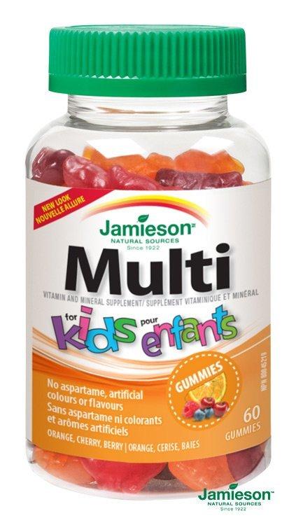 Jamieson Multi Kids Gummies želatinové pastilky 60pst