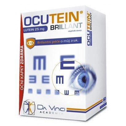 Ocutein BRILLANT Luteín 60 x 25 mg + Očné kvapky ZDARMA