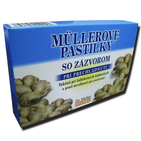 Dr. Müller Pharma Müllerove pastilky so zázvorom 24 pastiliek