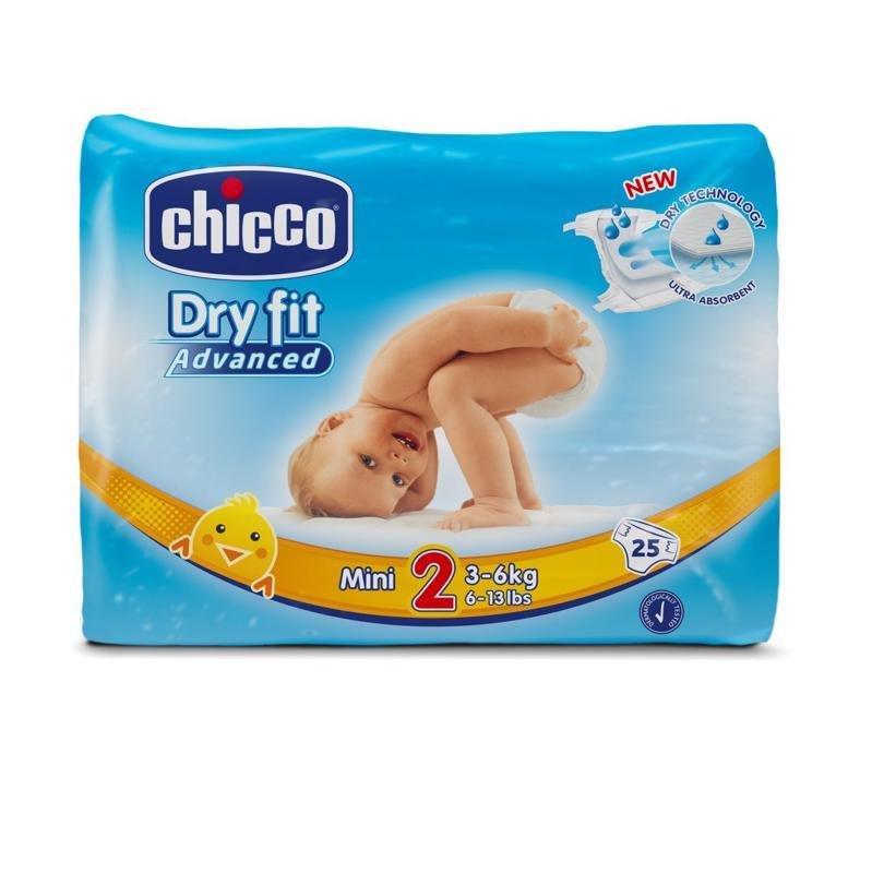 CHICCO Plienky Mini 25 ks (3-6 kg) - jednorazové plienky