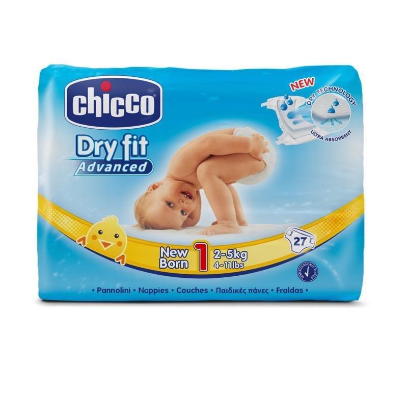 CHICCO Plienky Newborn 27 ks (2-5 kg) - jednorazové plienky