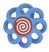NUBY Hryzačka gulička silikónová 3m+ modrá