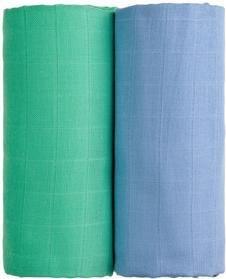 T-TOMI Osušky látkové TETRA 100 x 90, 2 ks, modrá + zelená