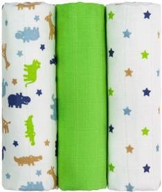 T-TOMI Plienky TETRA 70 x 70 cm, 3 ks, zelené krokodíly - Top kvalita