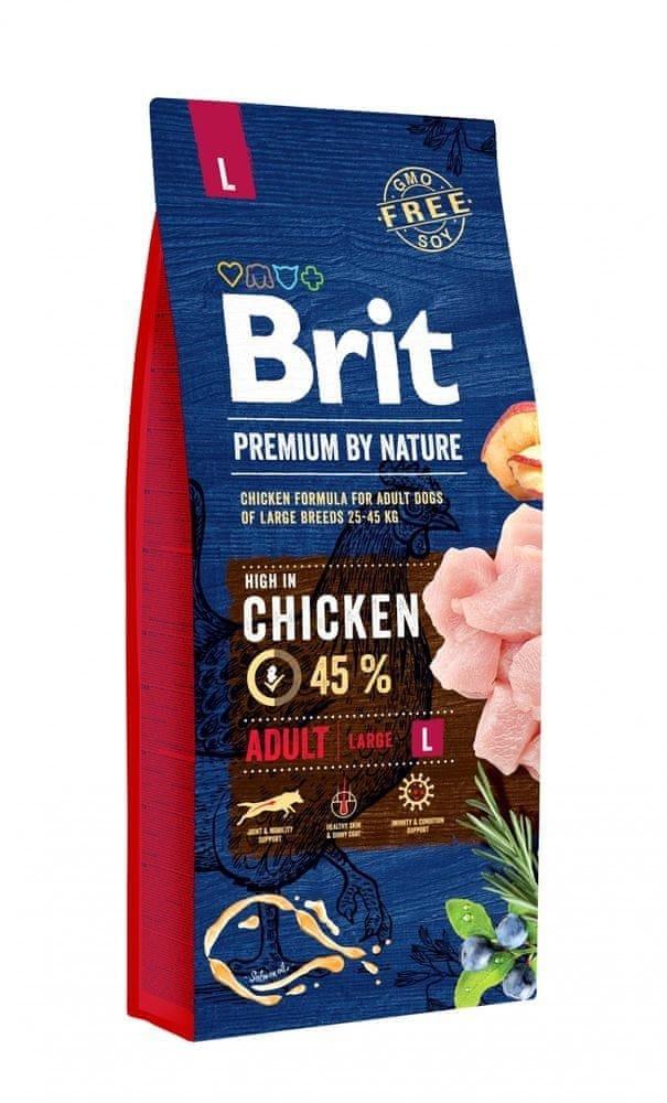 Brit Premium by Nature dog Adult L - kuracie 15 kg