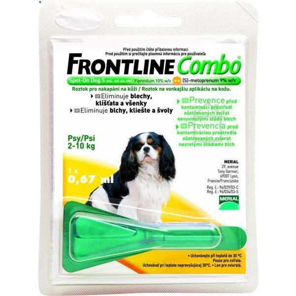 Frontline Combo spot on dog S pre psy 2-10 kg 1 x 0,67 ml