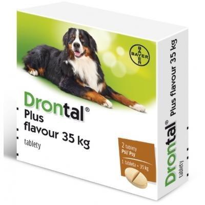 DRONTAL PLUS FLAVOUR 35 kg pre psy 2 tbl - Drontal Plus Flavour 35kg 2tbl