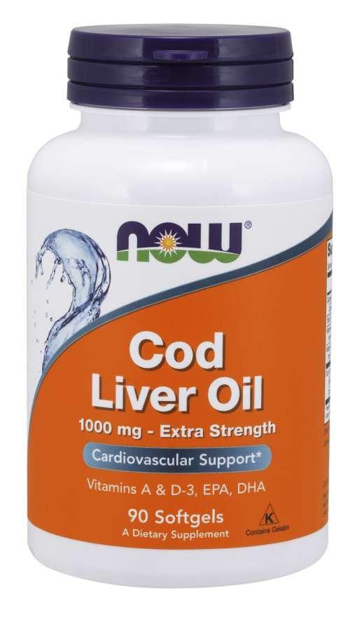 Olej z tresčej pečene - NOW Foods