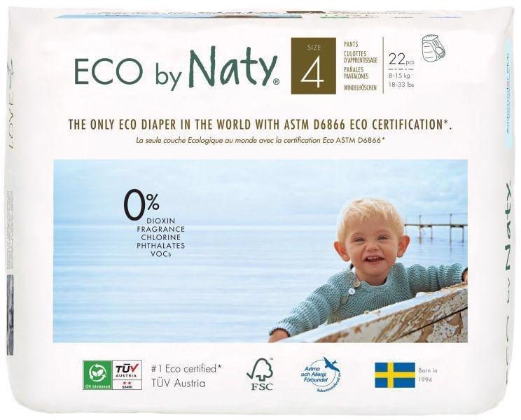 ECO BY NATY 4 Pants, 22 ks (8-15 kg) - kalhotkové plienky