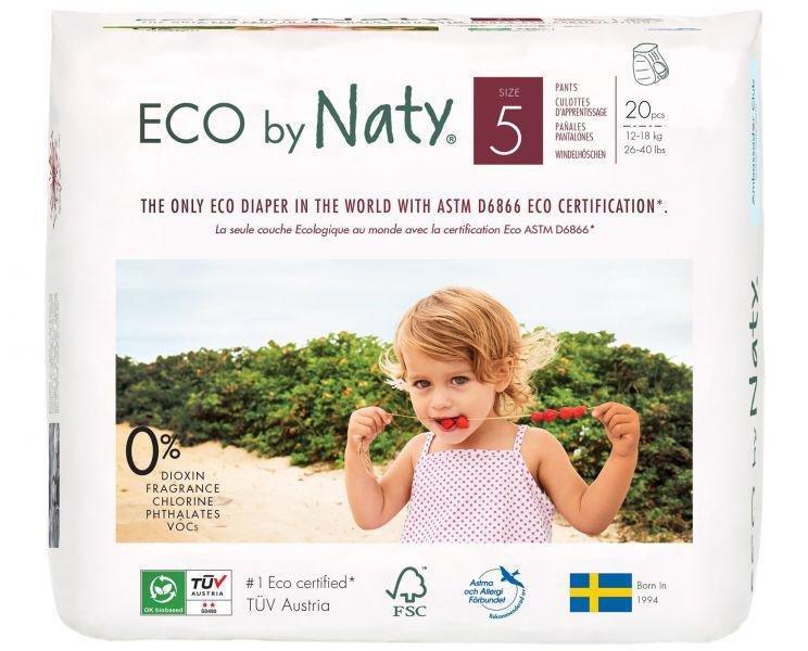 ECO BY NATY 5 Pants, 20 ks (12-18 kg) - nohavičkové plienky