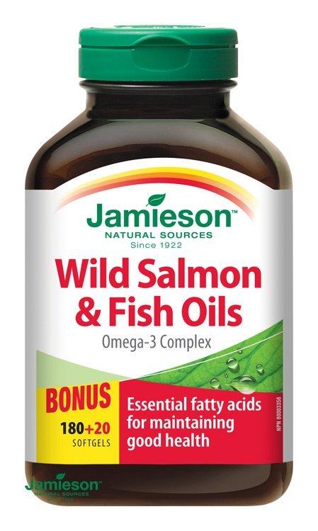 Jamieson Salmon Omega-3 komplex z lososa a rybích olejov 90 cps.