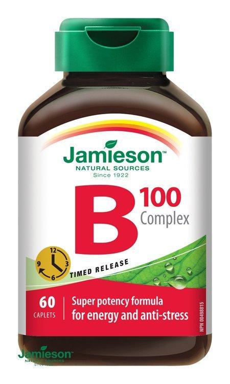 Jamieson B-Komplex s predĺženým účinkom 60 tabliet