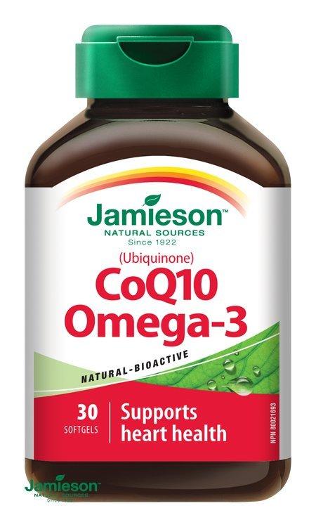 Jamieson Koenzým Q10 s Omega-3 30 cps
