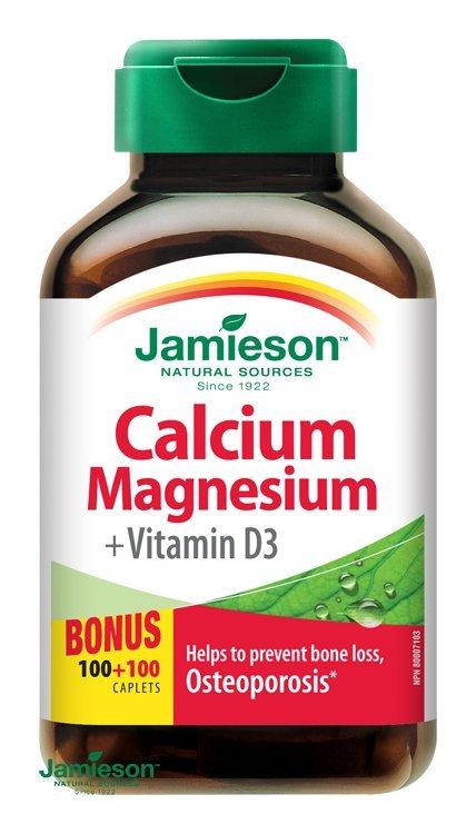 Jamieson Vápnik, horčík s vitamínom D3 200 tbl