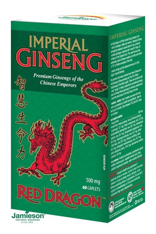 Jamieson Kráľovský ženšen Red Dragon™ 500 mg 60 tbl.