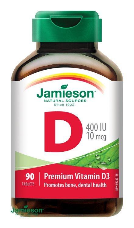 Jamieson Vitamín D3 400 IU 90 tbl.