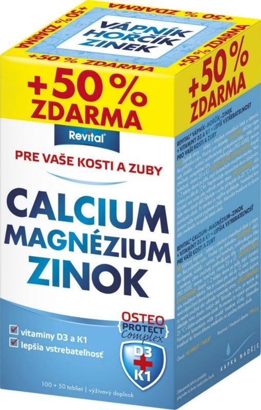 Revital Vápník+hořčík+zinek+vit.D3+K1 150 tablet